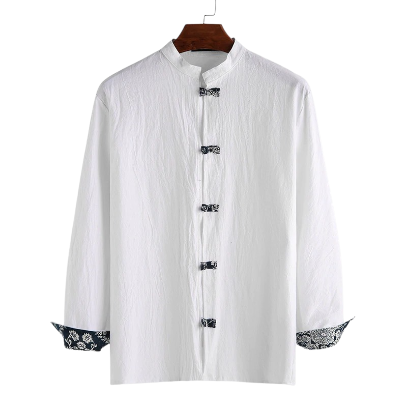 Long Sleeve Mandarin Button Shirt