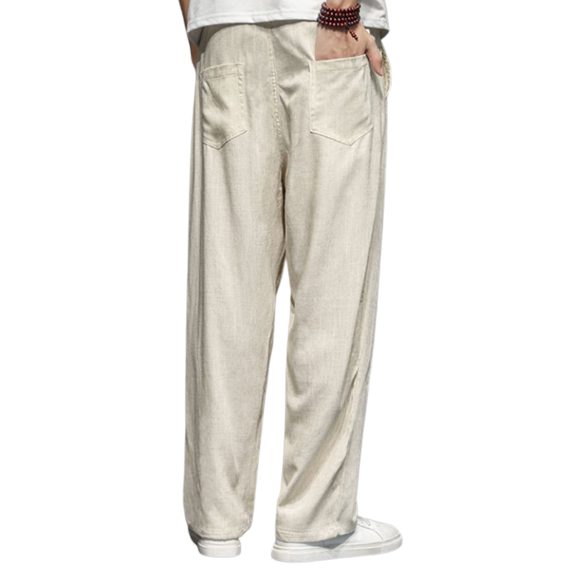 Loose Linen Harem Pants