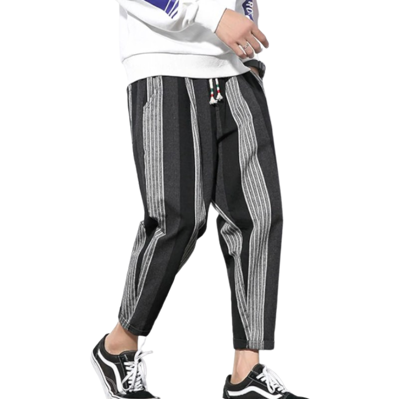 Striped Harem Joggers