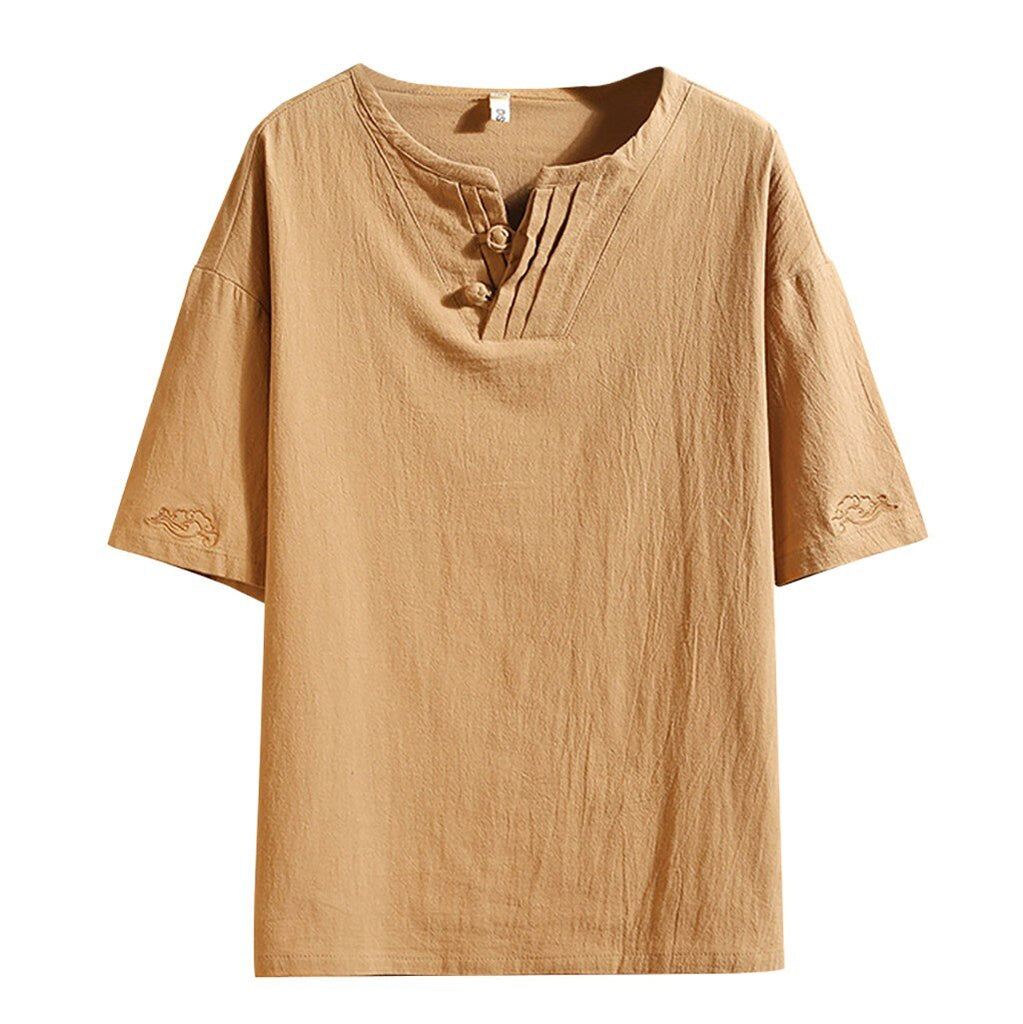 Stylish Linen Blend T-Shirt
