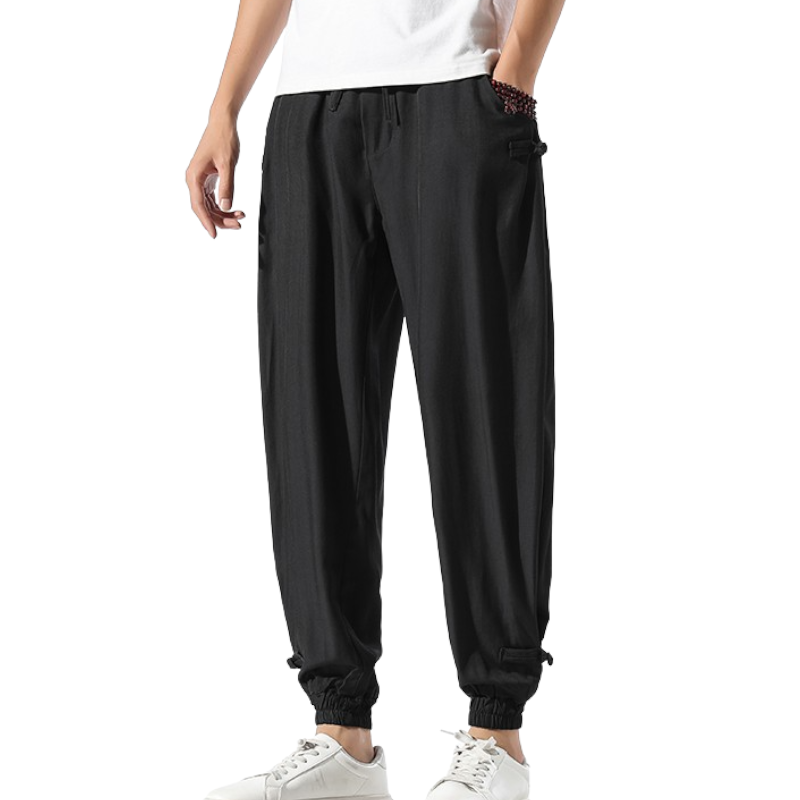 Narrowed Down Elastic Pants