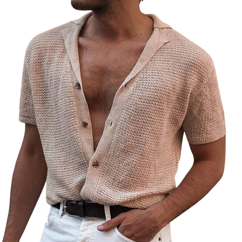 Elegant Knitted Button Shirt