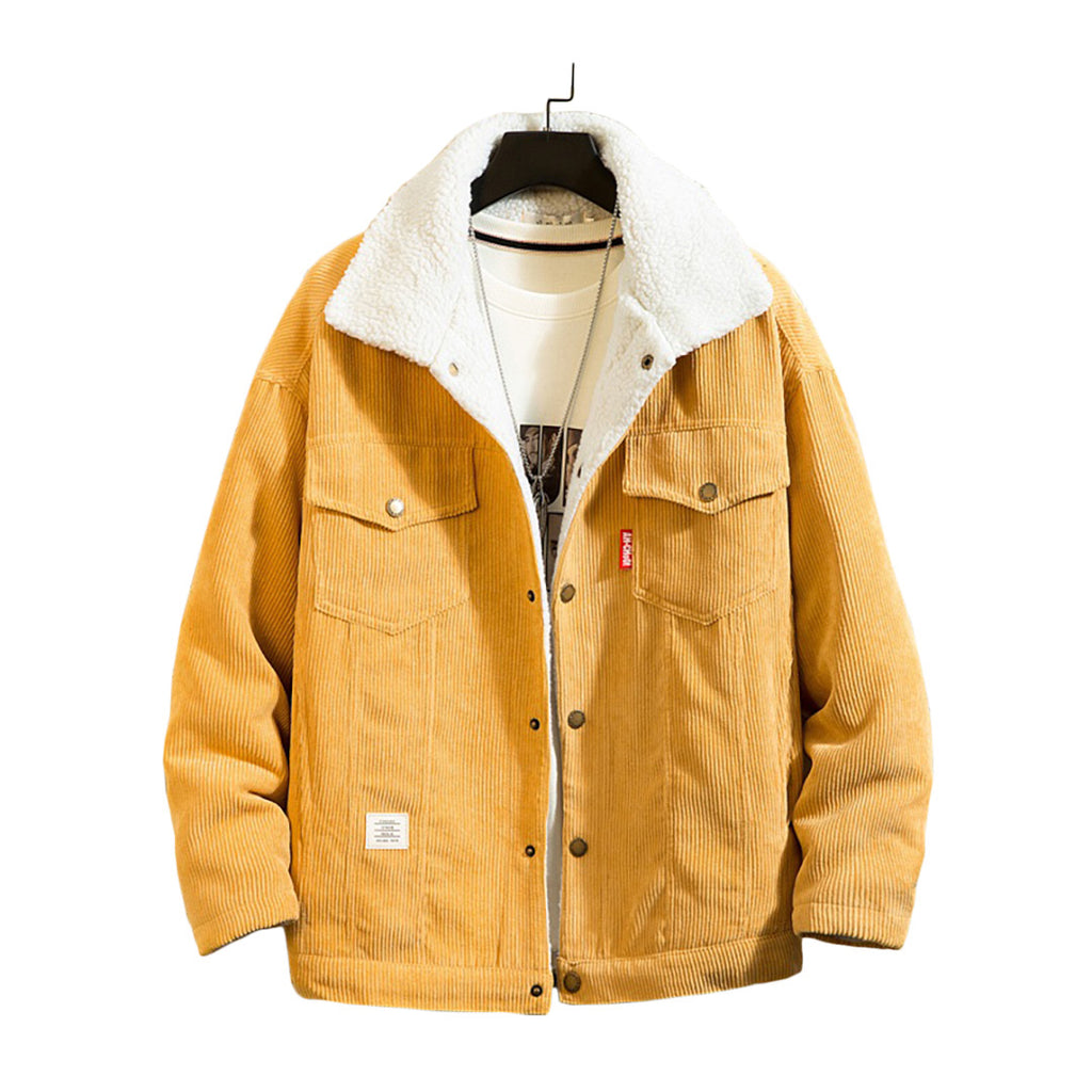 Warm Corduroy Button-Up Jacket