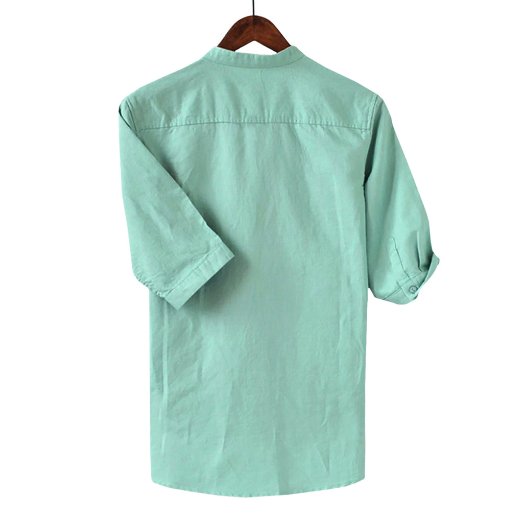Basic Breathable Linen Blend Shirt