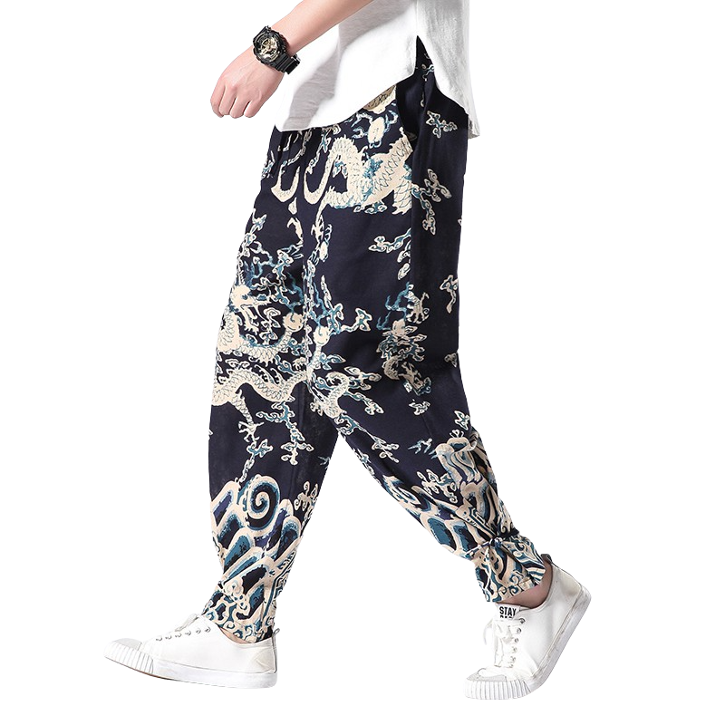 White Dragon Harem Pants