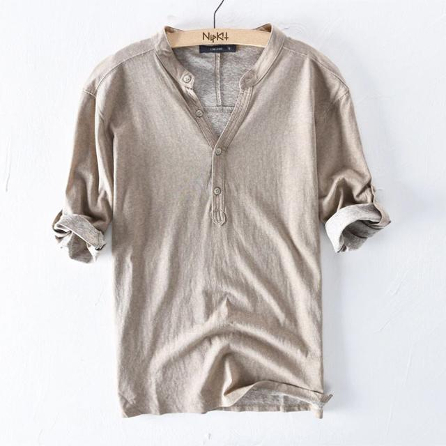 how to find clients first buy Henley Collar T-Shirt