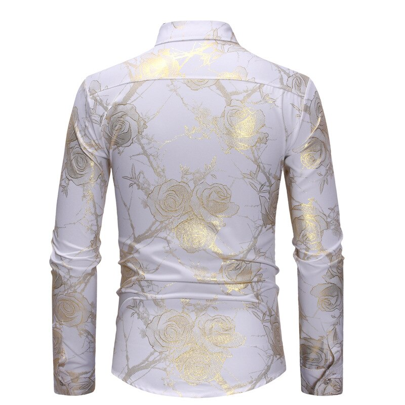 Rose Printed Long Sleeve Shirt