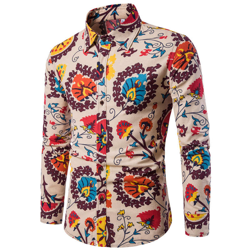 Floral Long Sleeve Button Shirt