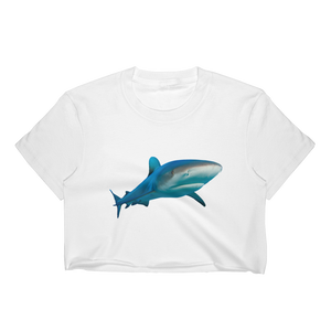 Great-White-Shark Print Women's Crop Top