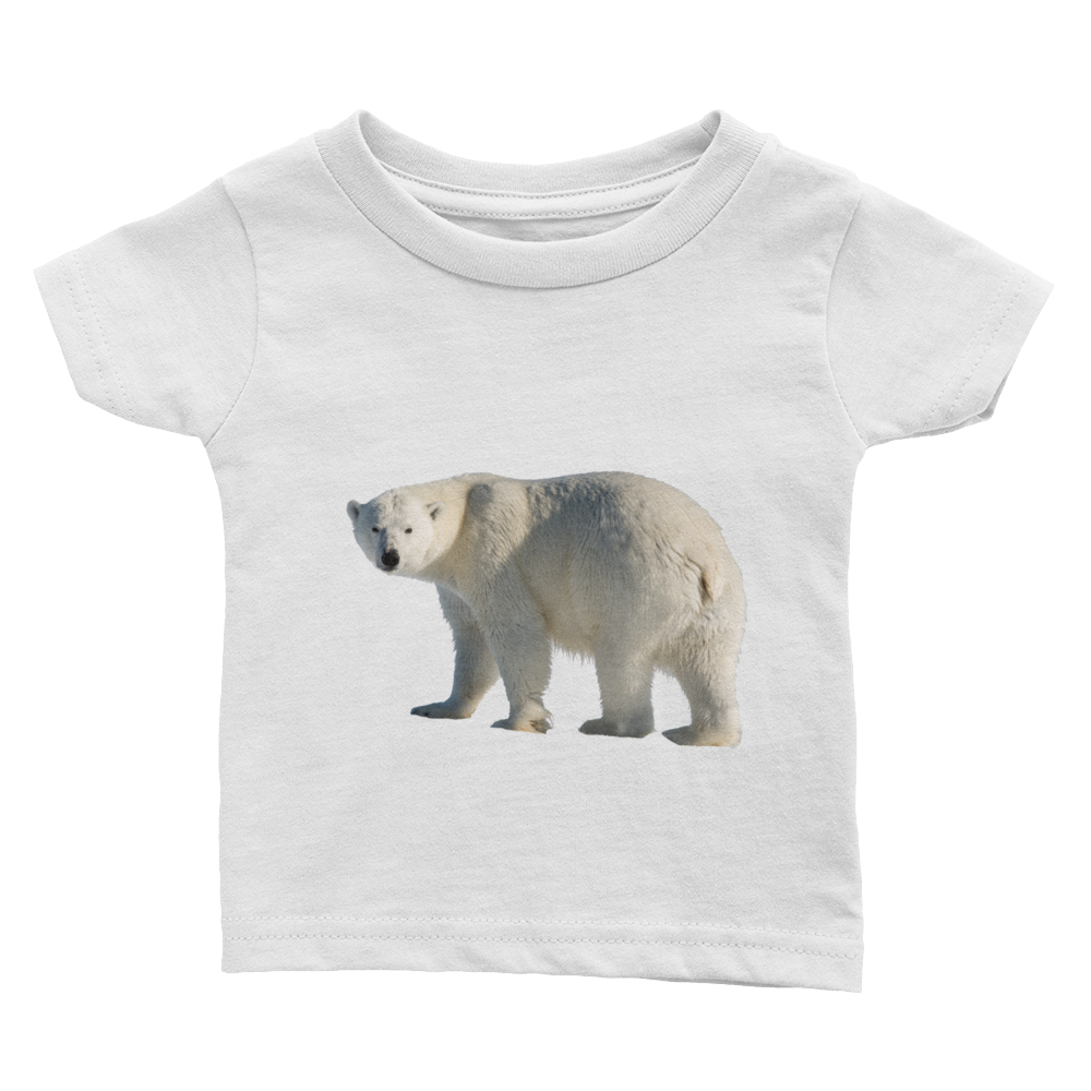Polar-Bear Print Infant Tee