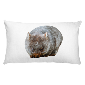 Wombat- Print Rectangular Pillow