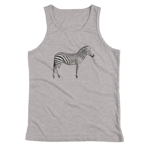 Zebra Print Youth Tank Top