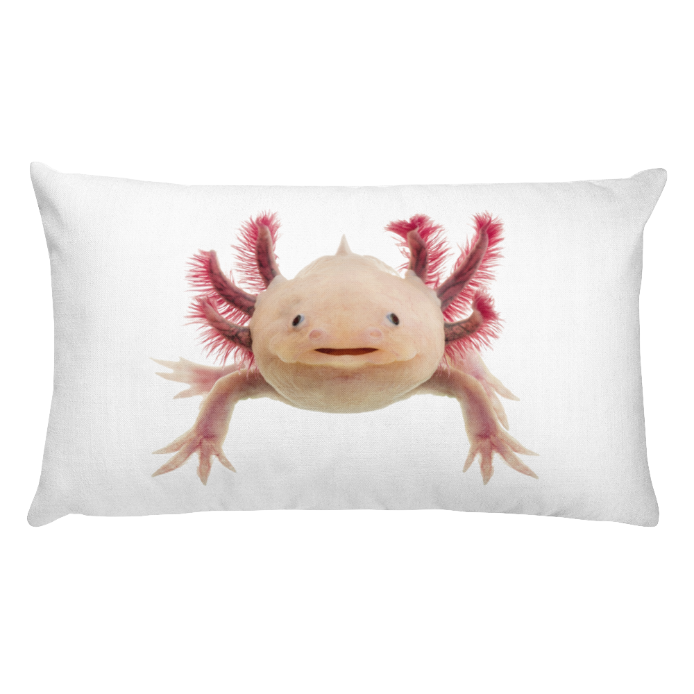 Axolotle Print Rectangular Pillow