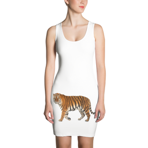 Siberian-Tiger Print Sublimation Cut & Sew Dress