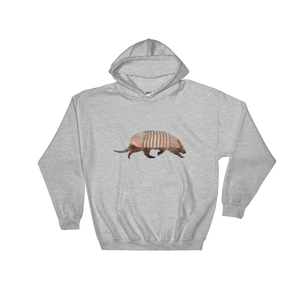 Armadillo Print Hooded Sweatshirt