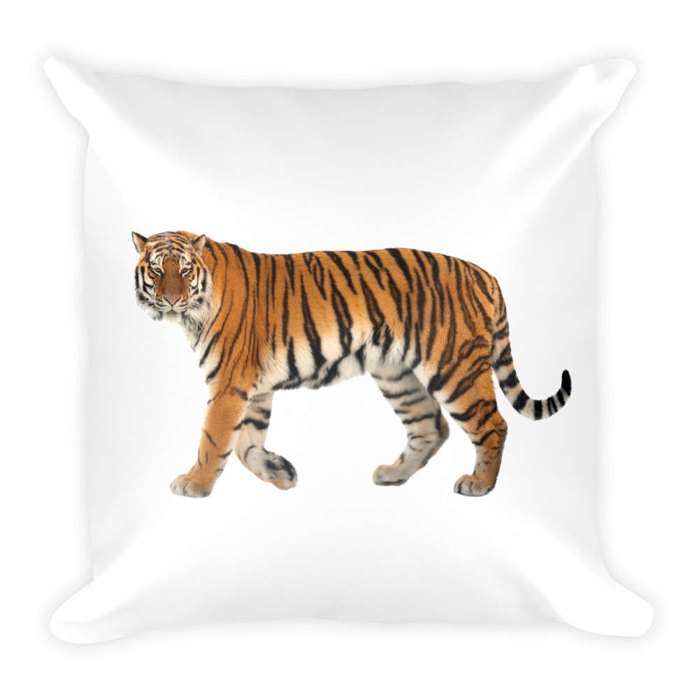 Siberian-Tiger Print Square Pillow