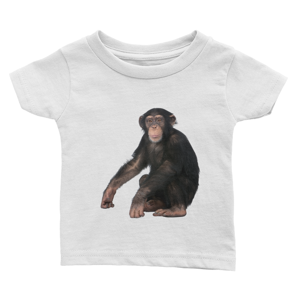 Chimpanzee Print Infant Tee