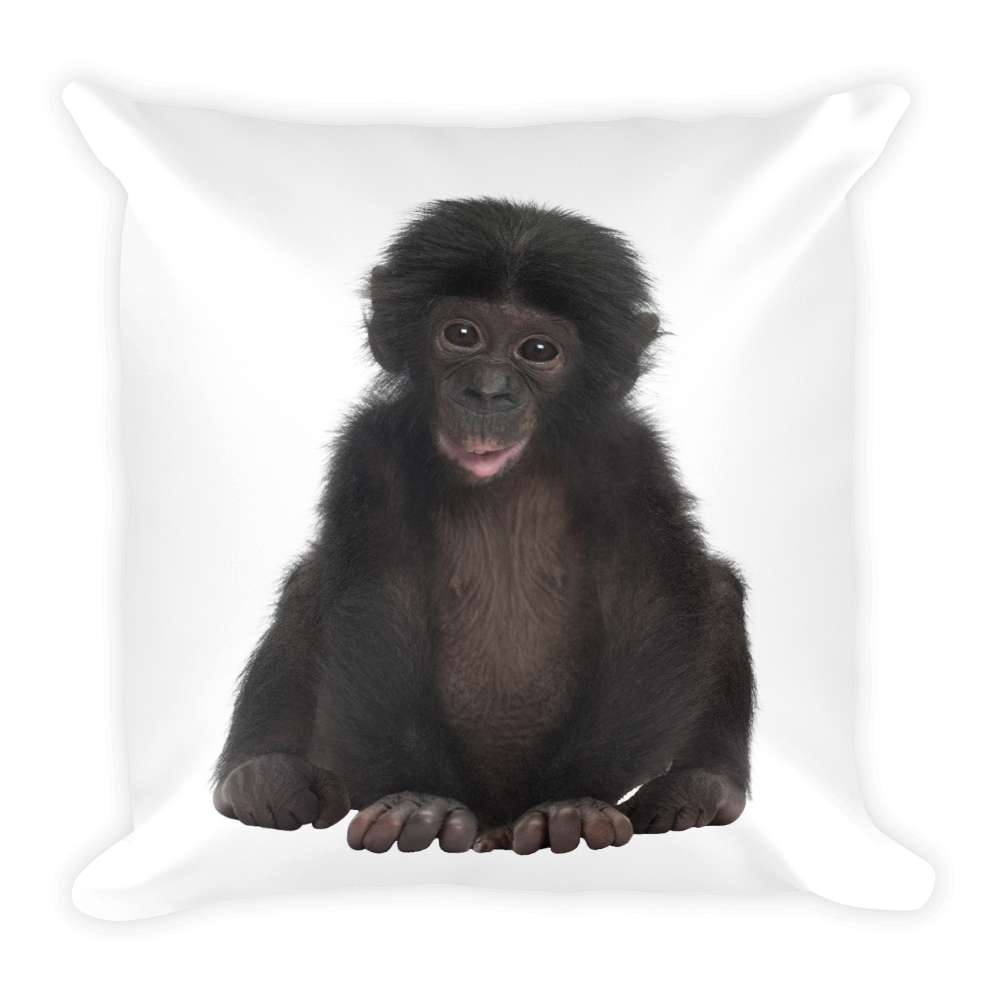 Bonobo Print Square Pillow