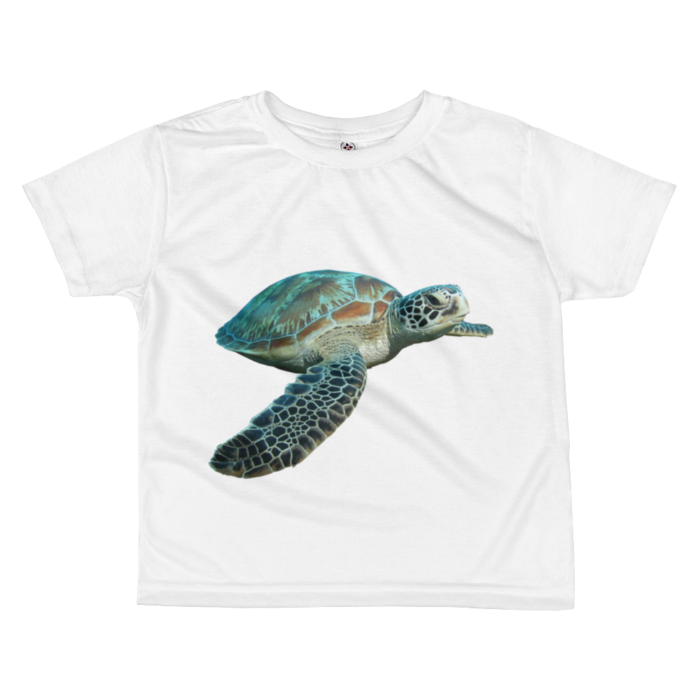 Sea-Turtle Print All-over kids sublimation T-shirt