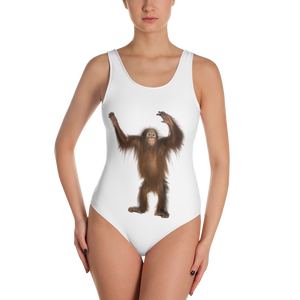 Orang-utan Print One-Piece Swimsuit