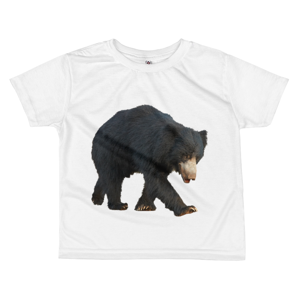 Sloth-Bear Print All-over kids sublimation T-shirt