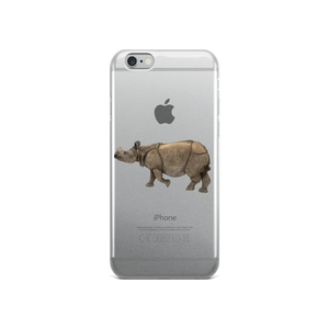 Indian-Rhinoceros Print iPhone Case