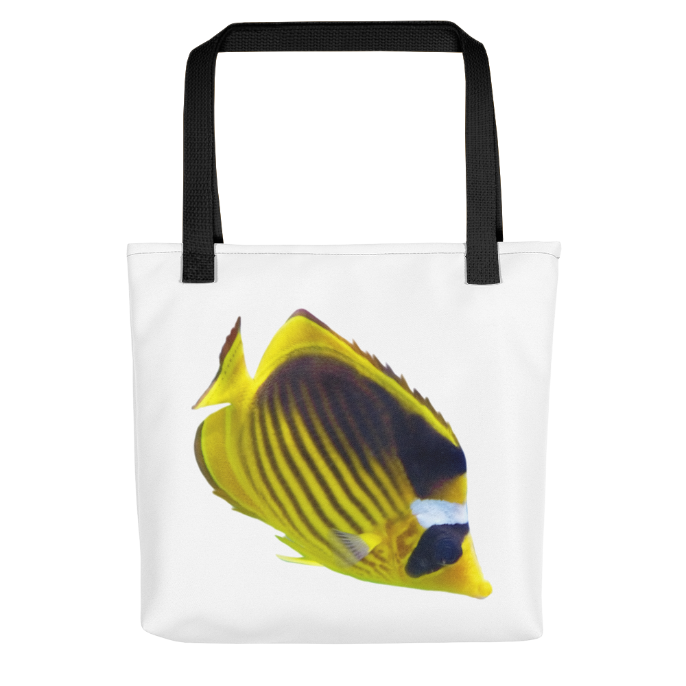 Butterfly-Fish Print Tote bag