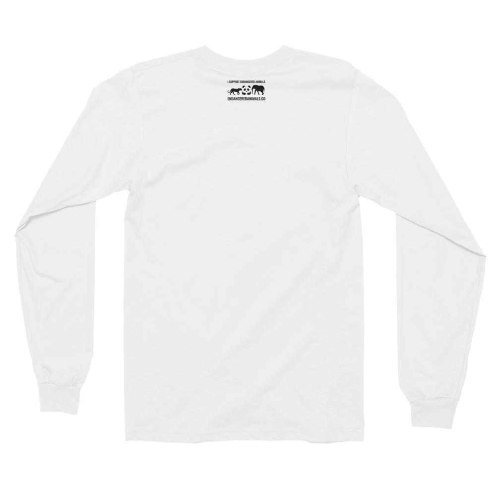 Polar-Bear Print Long sleeve t-shirt (unisex)