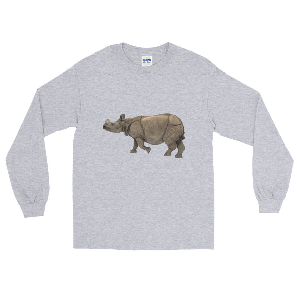 Indian-Rhinoceros Long Sleeve T-Shirt