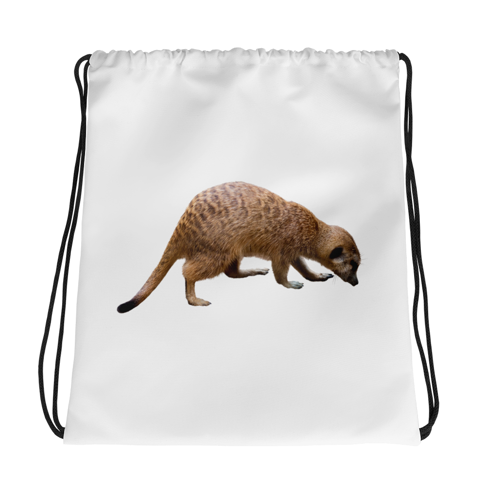 Mongoose- Print Drawstring bag