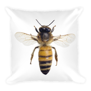 Honey-Bee Print Square Pillow