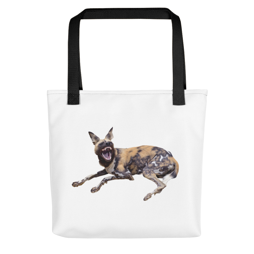 African-Wild-Dog Print Tote bag