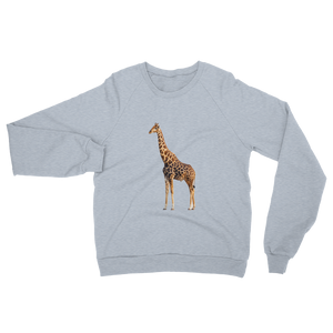 Giraffe print Unisex California Fleece Raglan Sweatshirt