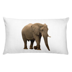 African-Forrest-Elephant Print Rectangular Pillow