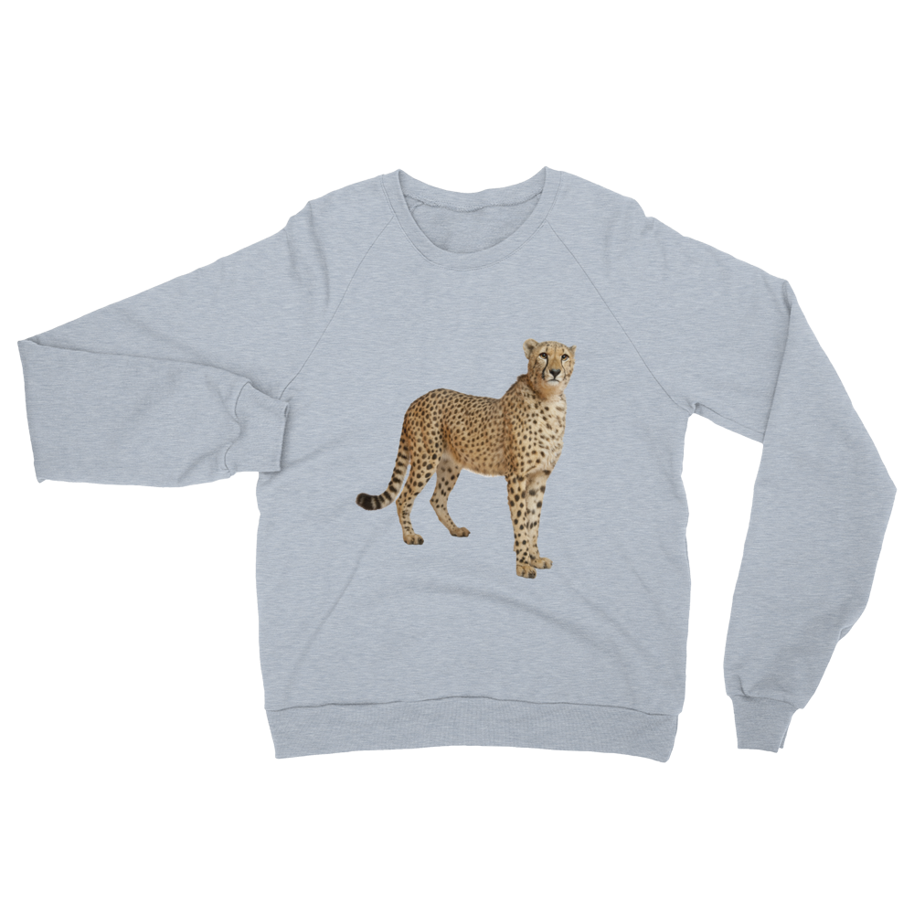 Cheetah print Unisex California Fleece Raglan Sweatshirt