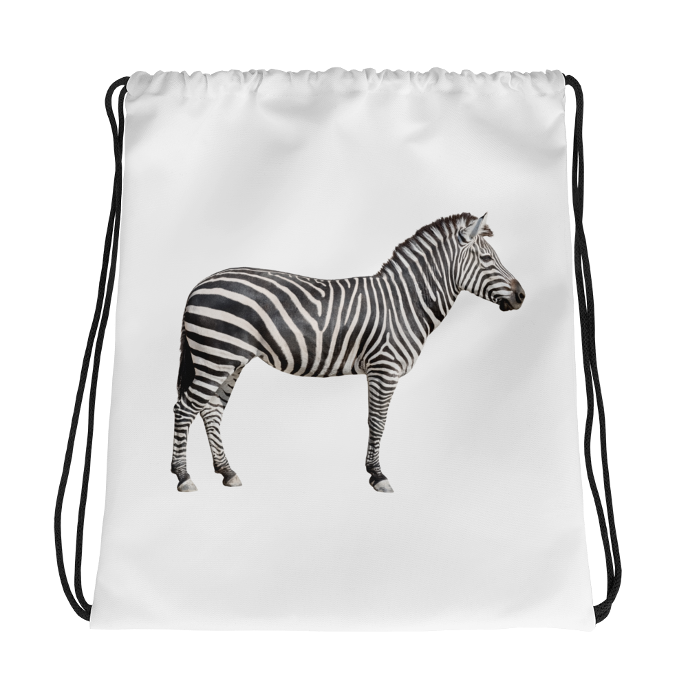 Zebra Print Drawstring bag
