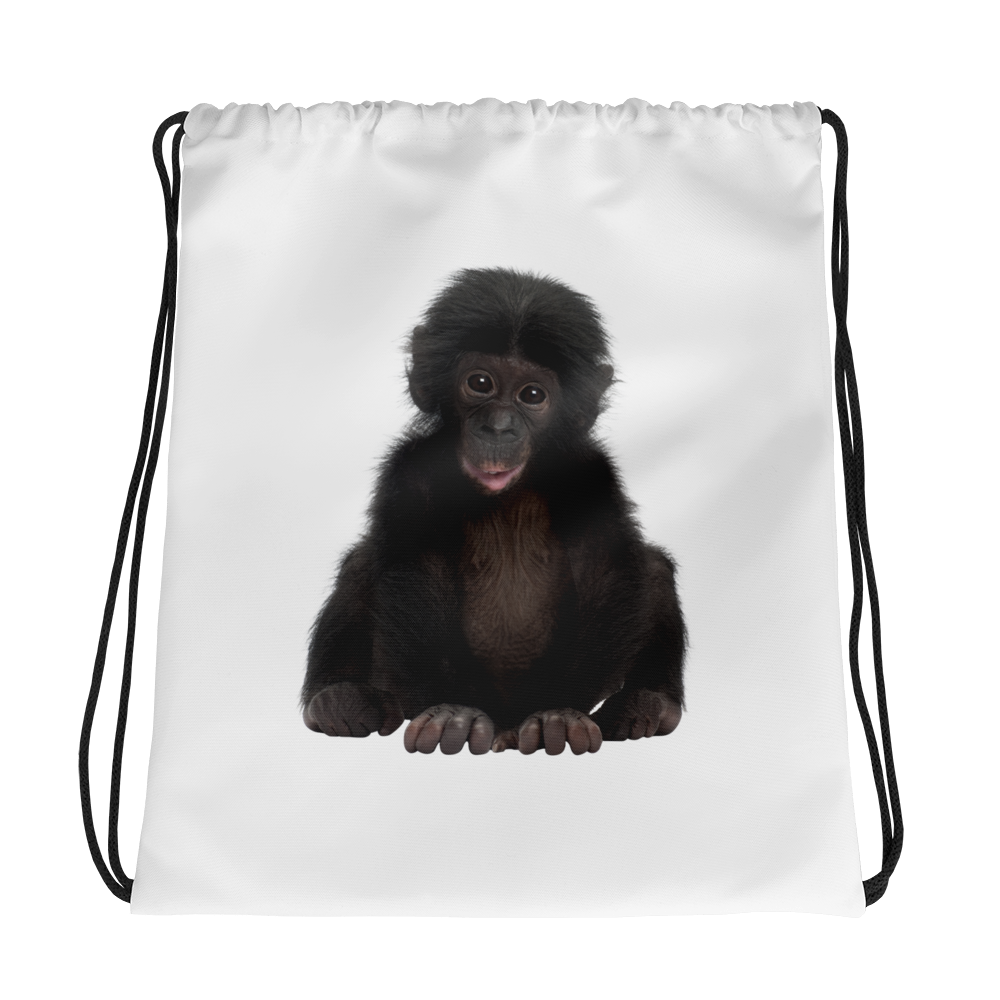Bonobo Print Drawstring bag