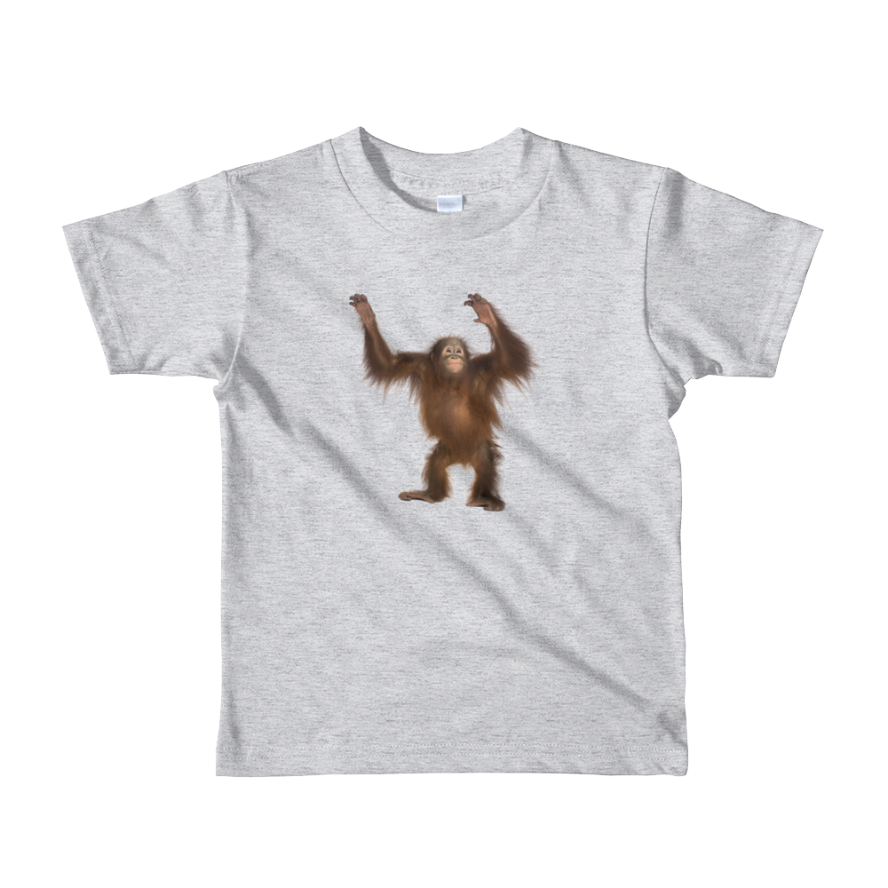 Orang-utan Print Short sleeve kids t-shirt