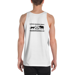White Tiger Print Unisex Tank Top