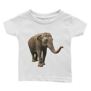 Indian-Elephant Print Infant Tee