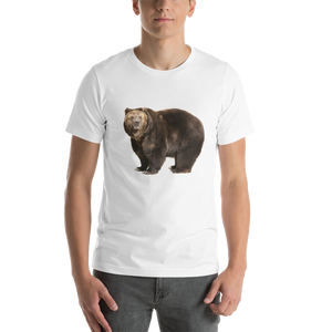 Brown Bear Print Short-Sleeve Unisex T-Shirt