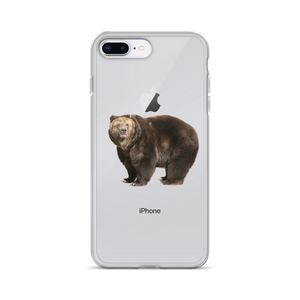 Brown-Bear Print iPhone Case