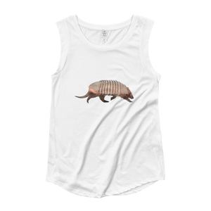 Armadillo Ladies‰۪ Cap Sleeve T-Shirt