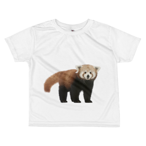 Red-Panda Print All-over kids sublimation T-shirt