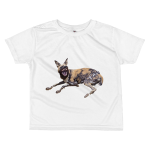 African-Wild-Dog Print All-over kids sublimation T-shirt