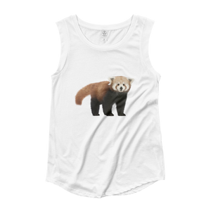 Red-Panda Ladies‰۪ Cap Sleeve T-Shirt