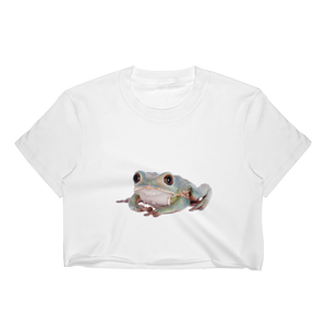 Tarsier-Frog Print Women's Crop Top
