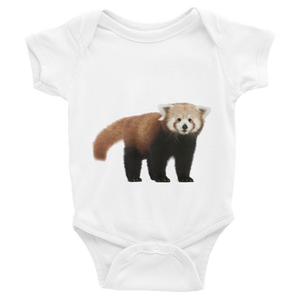 Red-Panda Print Infant Bodysuit