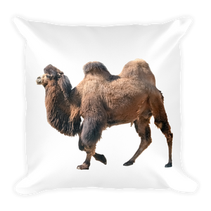 Bactrian-Camel Print Square Pillow