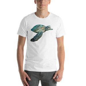 Sea Turtle Print Short-Sleeve Unisex T-Shirt
